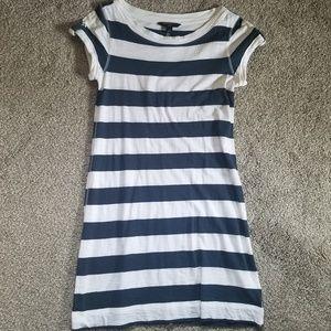 Nautical Striped Fitted Tshirt Mini Dress